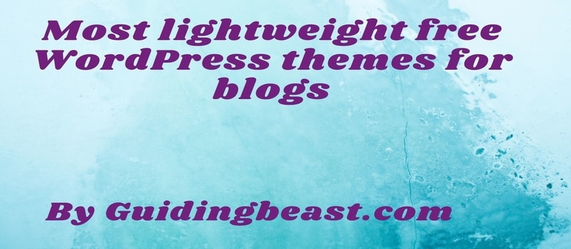 Most lightweight free WordPress themes for blogs